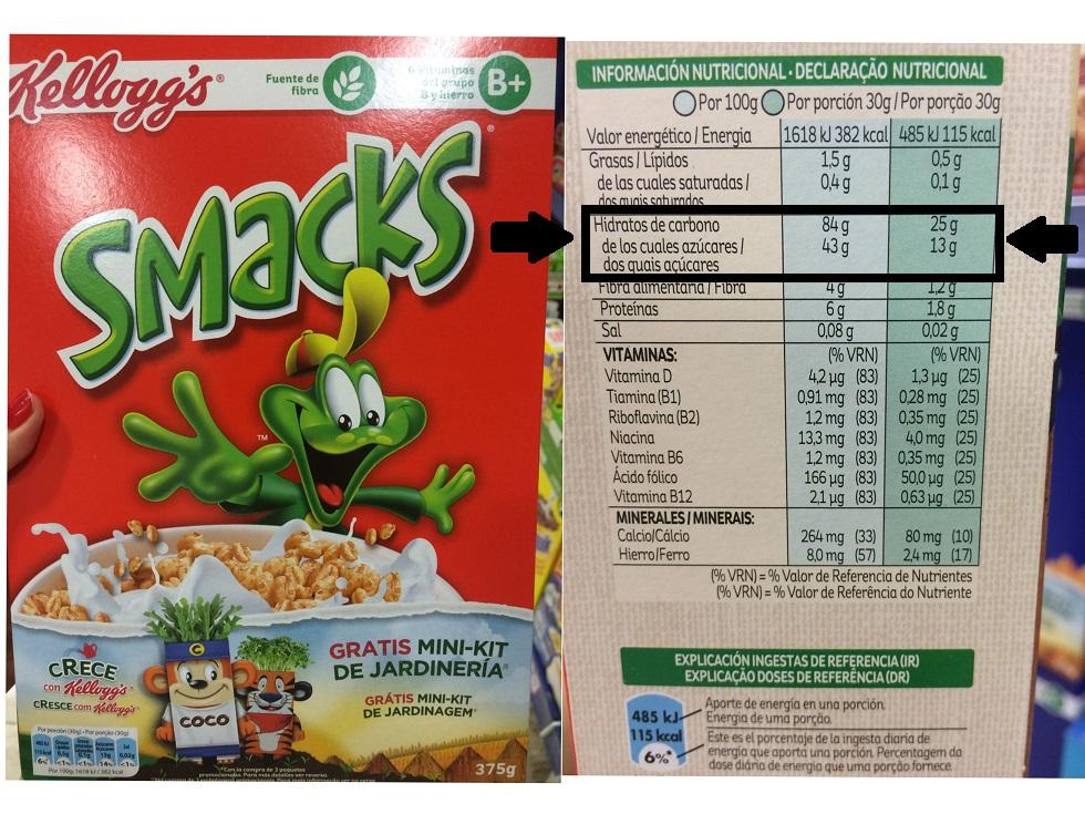 cereales azúcar