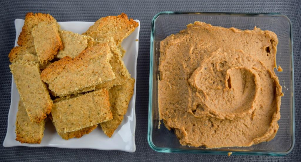 Paté de setas con galletas saladas de avena y semillas de calabaza