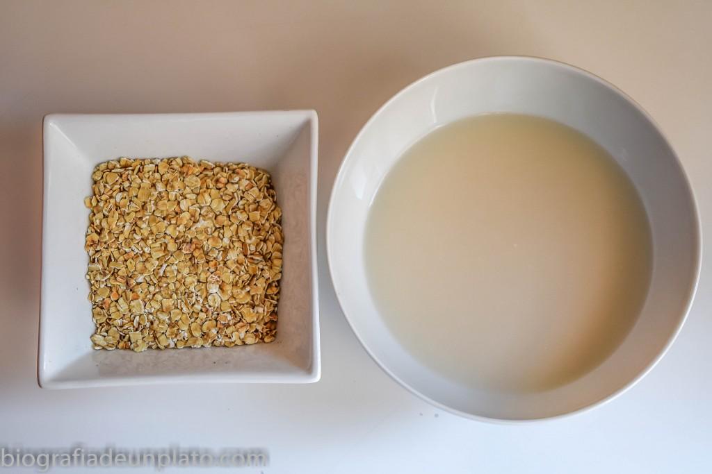Avena y bebida de arroz