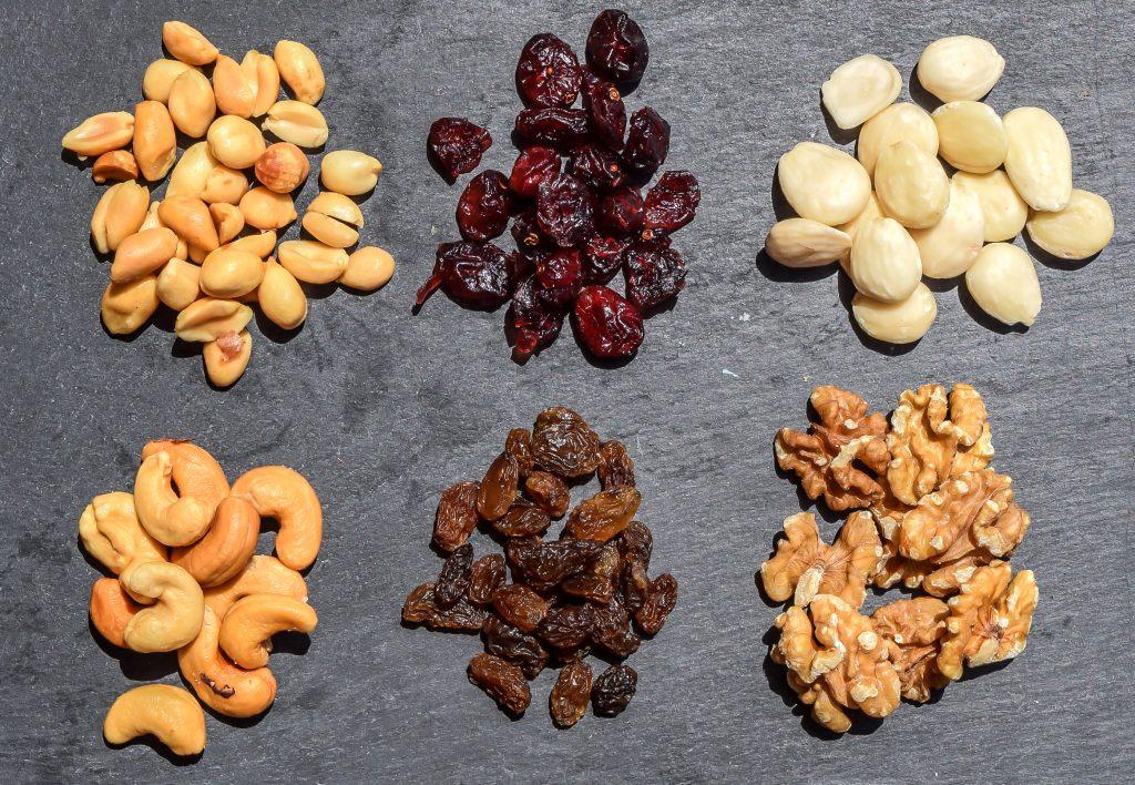 Frutos secos y fruta deshidratada