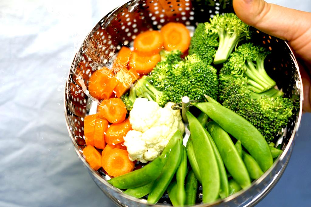 El vapor conserva y potencia el valor nutritivo de los vegetales.