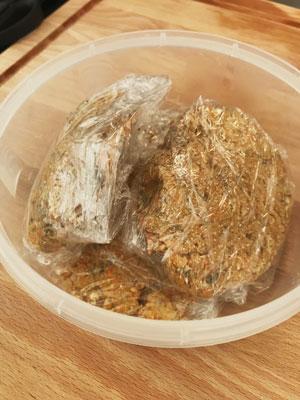 Hamburguesa vegetal lista para conservarse en el frigorífico o en el congelador.
