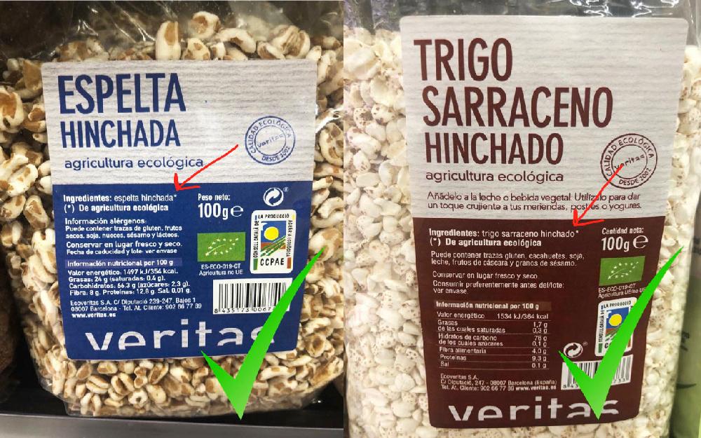 Cereales de desayuno sin azúcares añadidos